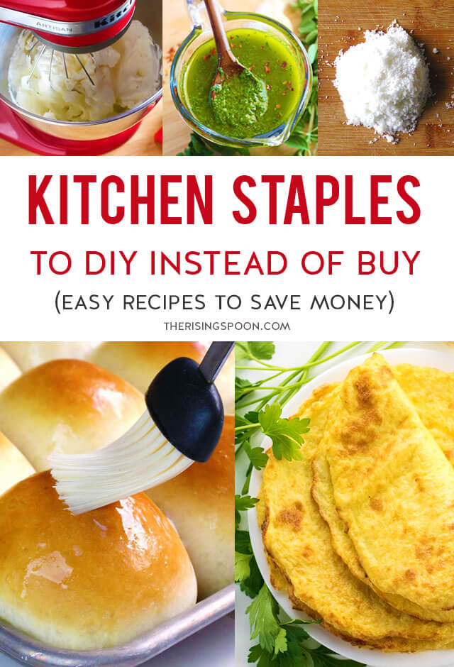 Is your kitchen decently stocked with basic food ingredients? Then you're ready to make loads of pantry staples that will save you money and keep your family well-fed. I'm sharing 100+ homemade recipes for foods you likely already buy from the store, so pick a few of your favorites to DIY, and add them to your meal plan this week.