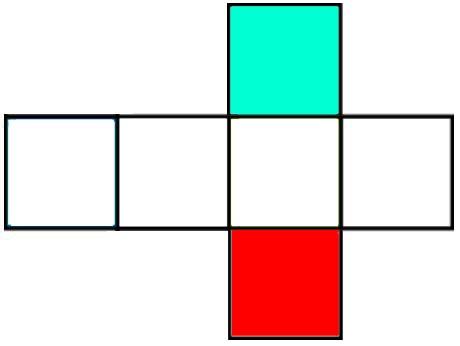 gambar jaring-jaring kubus