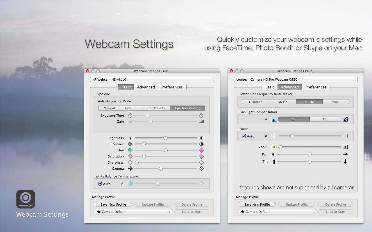 Mactaris: Webcam Settings