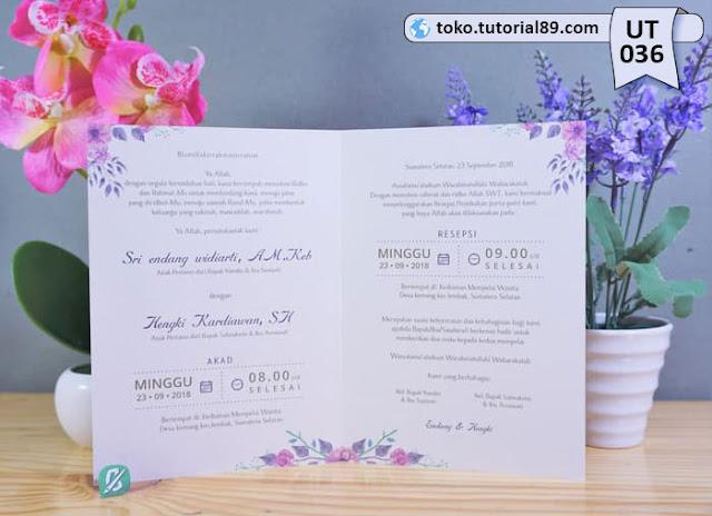 Undangan pernikahan UT035 - Seimpel Lipat 2 +free kartu ucapan terima kasih