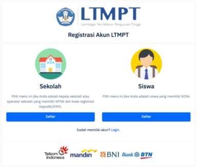 panduan registrasi akun siswa ltmpt 2021