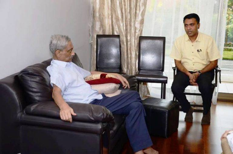 Pramod Sawant Was Sitting With Manohar Parrikar