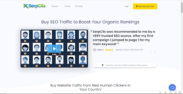 SerpClix Review with Payment Proofs - Increase Your Site Organic SERP CTR, Earn 0.05-0.10$ per visit