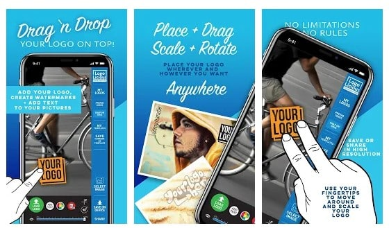 Aplikasi Cara Menambahkan Watermark pada Gambar Android - Watermark Apps Android Logolicious