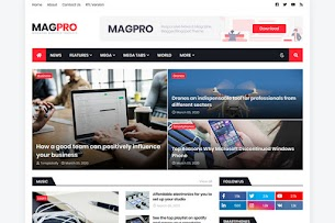MagPro - Responsive News & Magazine Blogger Template