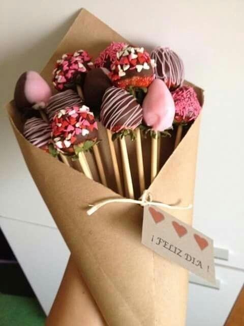 Um buque com flores de chocolate para mãe chocólatra