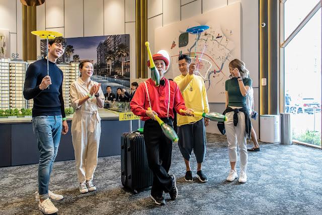 Singapore Juggler and Mediacorp artistes