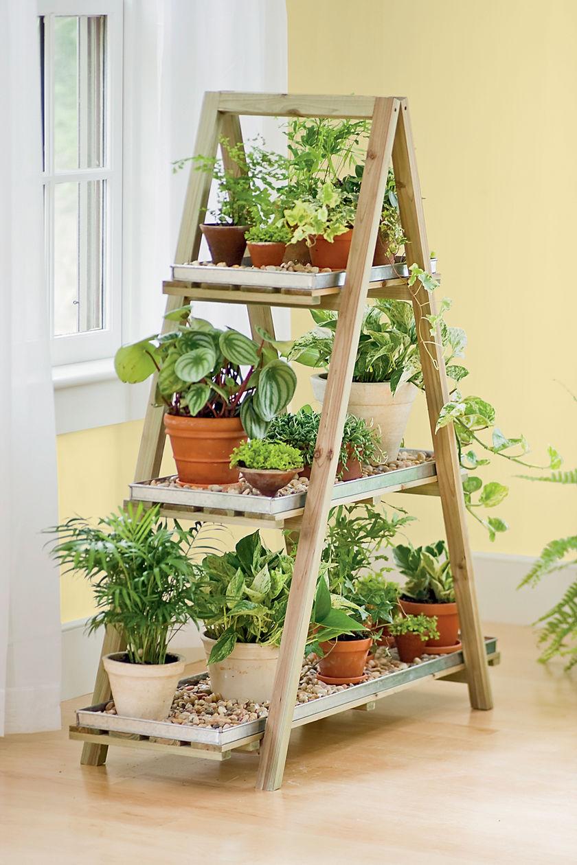 Dishfunctional Designs Old Ladders Repurposed As Home Decor