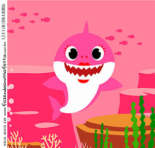 Baby Shark Party: Free Printable Candy Buffet Labels.