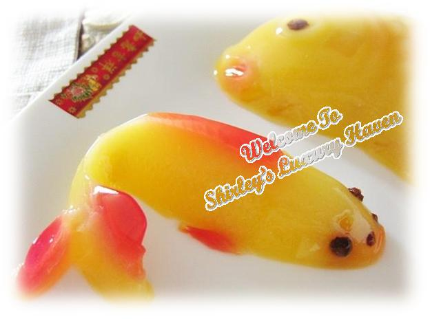 pretty cny koi mango pudding recipe