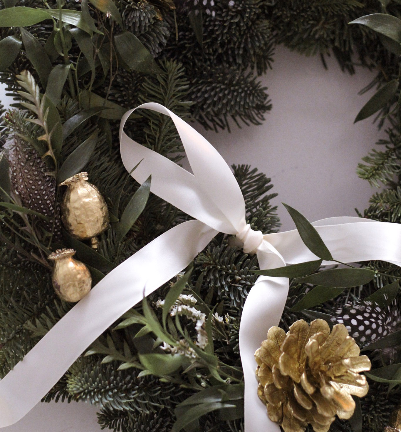 close up of wreath