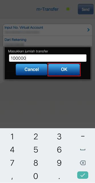 Masukan Jumlah Transfer / Top Up OVO
