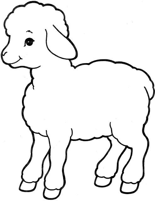 desenhos de ovelha para imprimir e colorir ovelinha sÓ escola