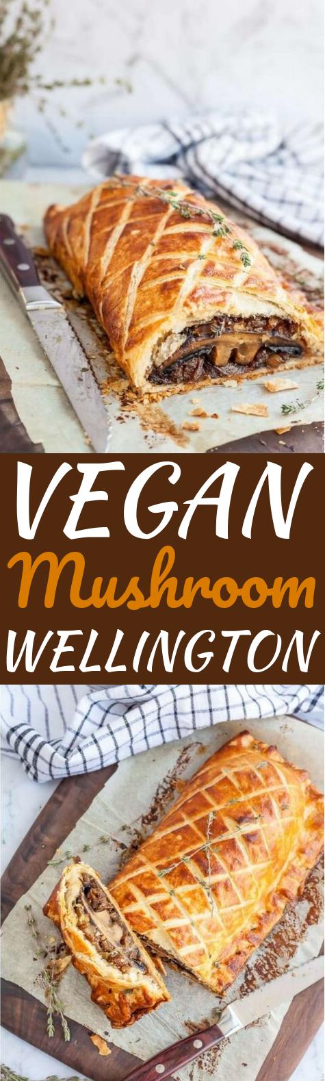 Vegan Mushroom Wellington #vegan #dinner