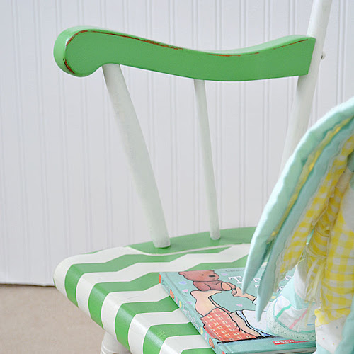 Whimsical Wooden Nursery Rocking Chair Makeover