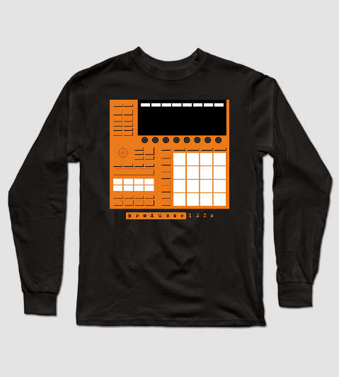 Dope Beat Machine Series #10 (Orange) Long Sleeve T-Shirt