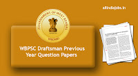 WBPSC Draftsman Previous Year Question Papers