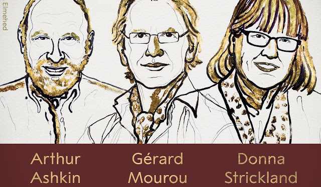 Nobel Prize 2018 In Physics Awarded to Arthur Ashkin, Gérard Mourou, Donna Strickland