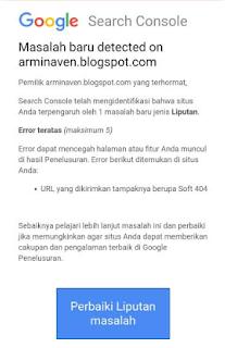 URL Yang Dikirimkan Tampaknya Berupa Soft 404