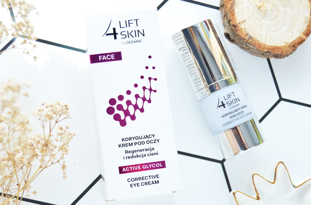 Korygujący krem pod oczy ACTIVE GLYCOL - Lift 4 Skin by Oceanic / Regeneracja i redukcja cieni