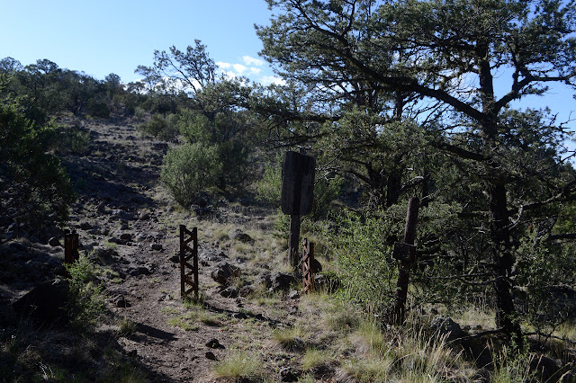 Gila Wilderness sign and barriers