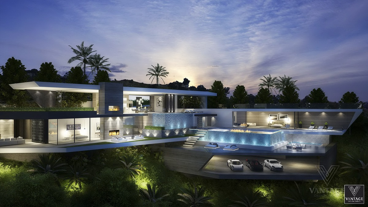 Passion for luxury architecture concepts from vantage for Luxury garage designs