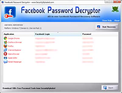 Facebook Password Decryptor +[portable]