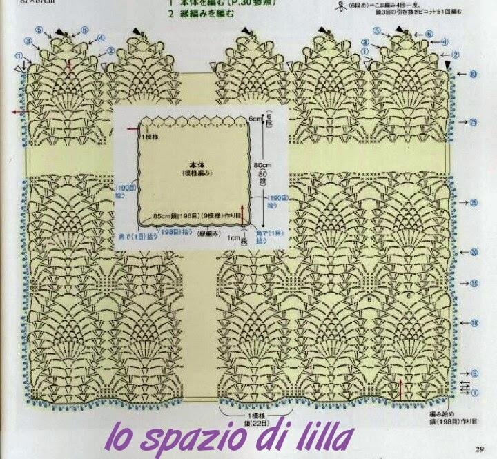 lo spazio di lilla copertina per neonato all 39 uncinetto ForLo Spazio Di Lilla Copertine Neonato