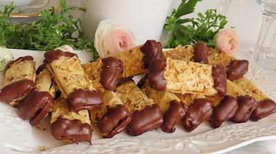 Prutići s orasima, pekmezom i čokoladom / Cookies with walnuts, jam and chocolate