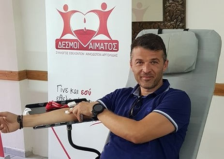 Οι Δεσμοί Αίματος ευχαριστούν τον Δήμαρχο Ναυπλίου για την 115η εθελοντική αιμοδοσία
