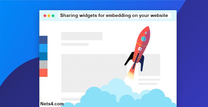 Sharing widgets for embedding on websites