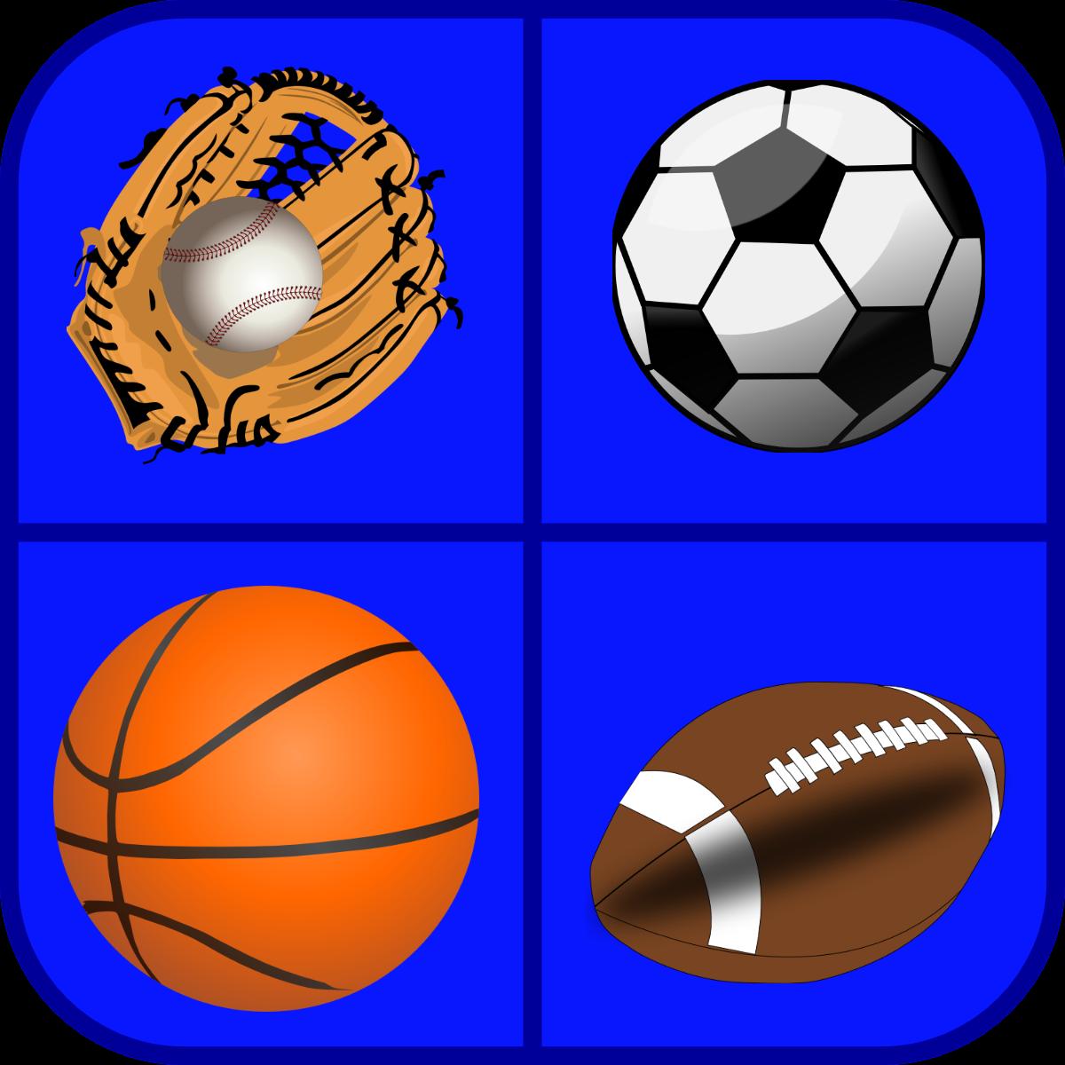 baseball, soccer ball, basketball, football