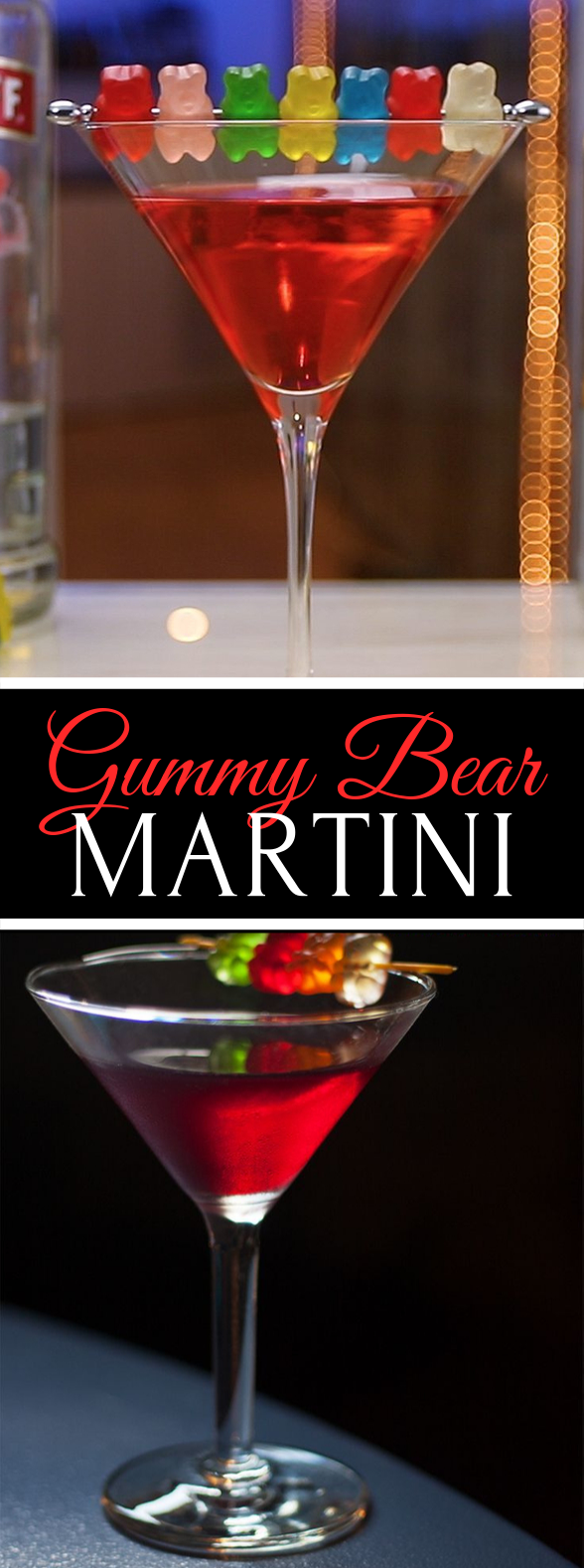 Gummy Bear Martini #drinks #vodka #cocktails #martini #partydrink