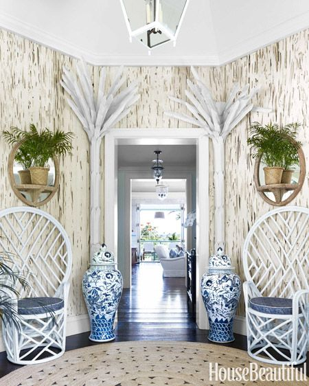 Palm Beach Chic Circa 1990s: Chinoiserie Chic: A Blue And White Foyer DIY