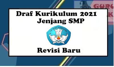 gmbar perubahan kurikulum 2013 ke kurikulum 2021 jenjang SMP