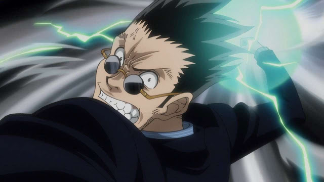 Leorio punches Ging