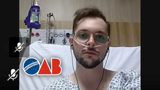 advogado participa audiencia cama hospital oab