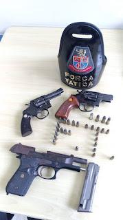 Operação conjunta resulta na apreensão de armas e munições em Registro-SP