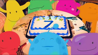 Seven creatures gather for a birthday party, Sesame Street Episode 4401 Telly gets Jealous season 44