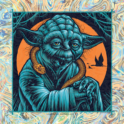 """Star Wars """"Luminous Beings Are We"""" Yoda Screen Print by Todd Slater x Bottleneck Gallery"""