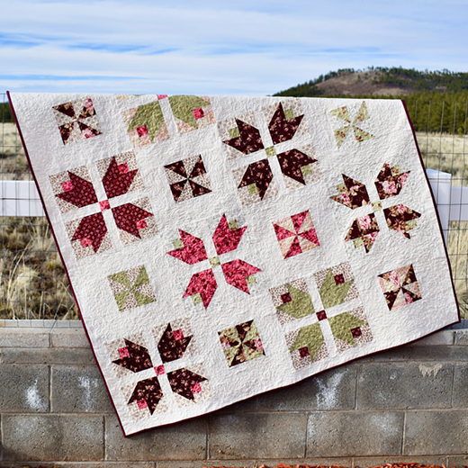 Tulips and Pinwheel Quilt designed by Yoan Zivkovic of Yoan Sewing Studio