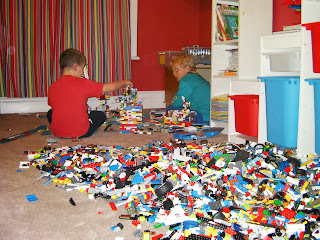 big pile of lego bricks
