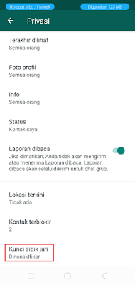 Cara Mengaktifkan Fitur Sidik Jari Whatsapp
