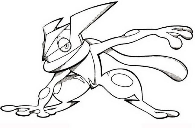 Greninja Coloring Pages Of Pokemon