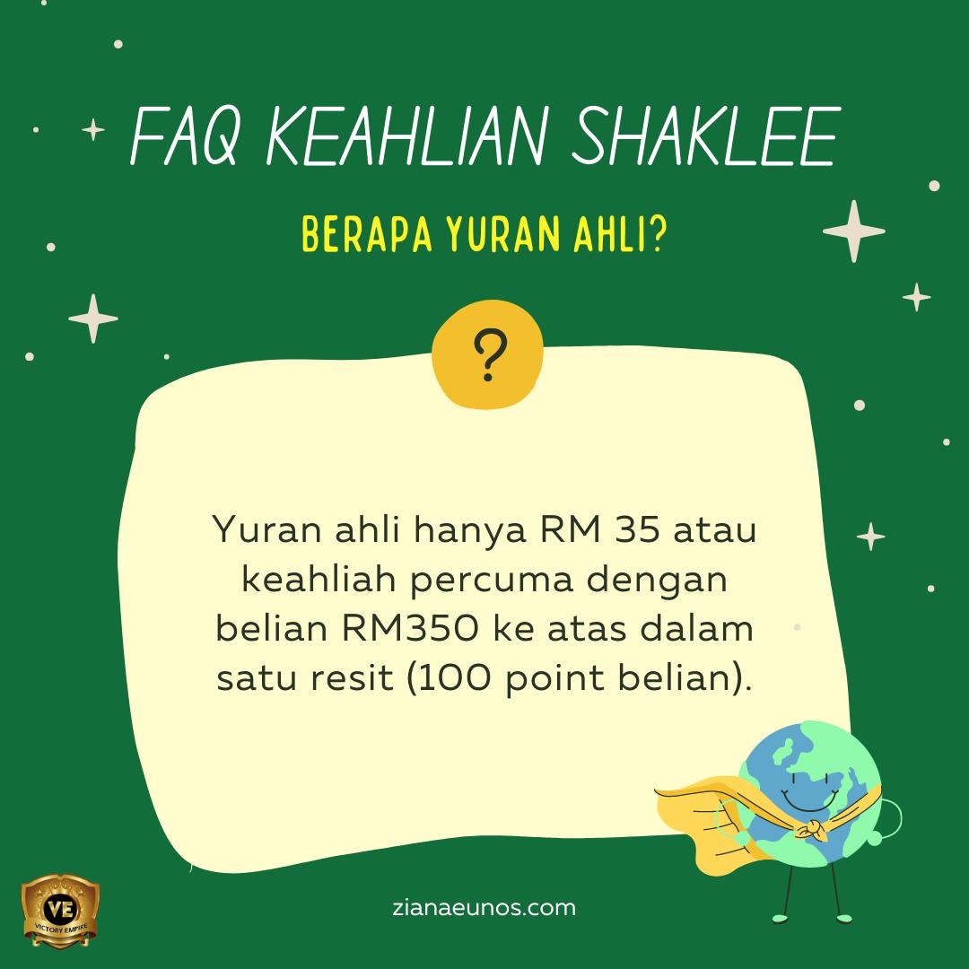 FAQ Ahli Shaklee
