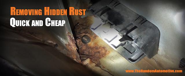 rust removal treatment body work sanding sealant
