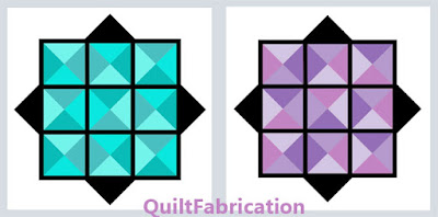 aqua and purple mini quilt ideas