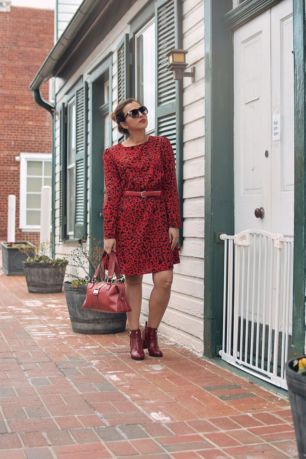 Red Leopard Dress-MariEstilo-look of the day-street style-dcblogger-animalprint-tendencias-vestidos-moda primavera 2019-