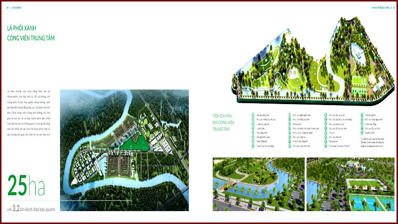 Công viên trung tâm 25ha của khu đô thị Waterpoint