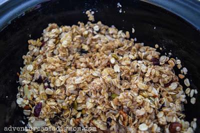 granola in a crockpot